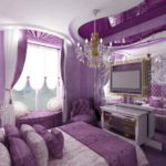 Фіолетовий серпанок у вашій спальні