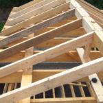 Встановлення крокв даху гаража