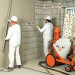 Штукатурка стін механізованим способом: особливості процесу і вибору обладнання