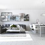 Біла ілюзія в дизайні квартири-студії