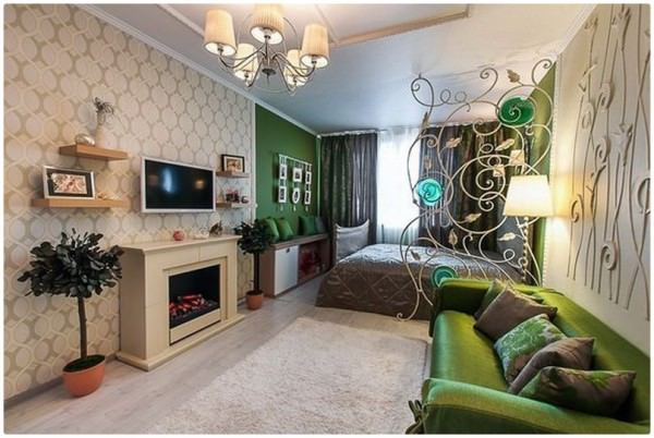 Как сделать зонирование спальни и гостиной в рамках одной комнаты — варианты с фото
