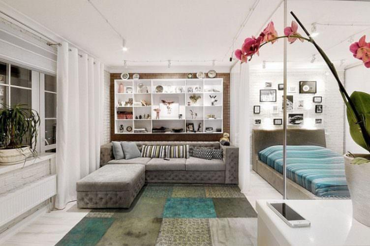 50 идей дизайна однокомнатной квартиры 40 кв. м