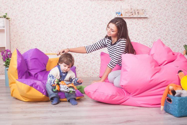Бескаркасная мебель в интерьере: как сделать кресло-мешок своими руками