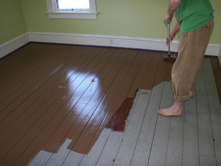 Быстросохнущая краска без запаха для пола вашего загородного дома