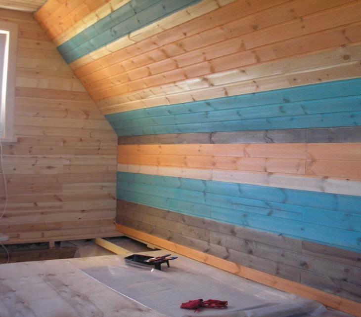 Чем красить вагонку внутри помещения и подчеркнуть стиль интерьера