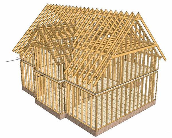 Четыре этапа строительства каркасного дома своими руками