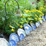 Декоративні паркани для клумб-різновиди — вибір і виготовлення