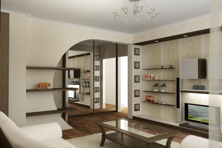 Делаем дизайн перепланировки однокомнатной квартиры в двухкомнатную