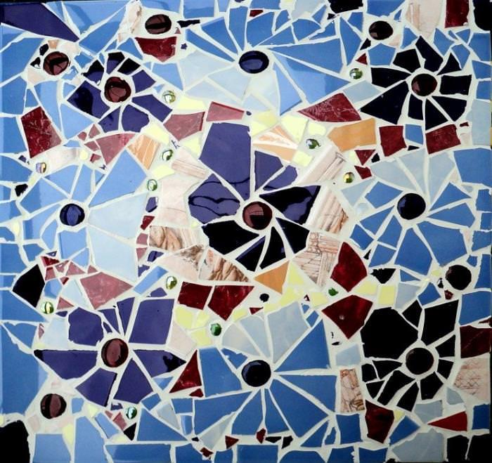 Делаем мозаику из битой плитки своими руками