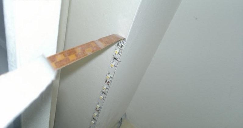 Делаем подсветку потолка светодиодной лентой