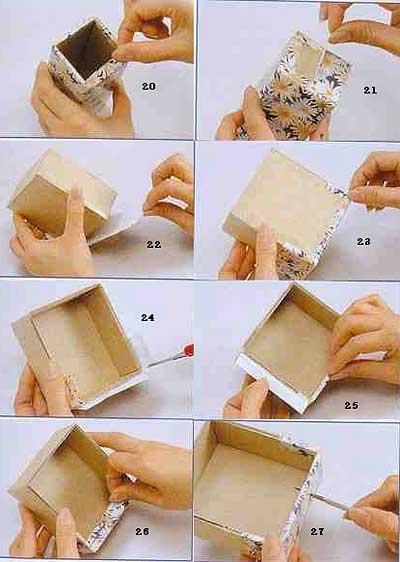 Делаем шкатулку из картона или бумаги своими руками