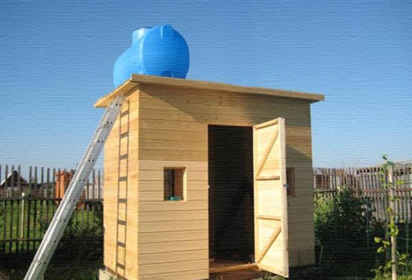Деревянный дачный душ от А до Я: изготовление своими руками