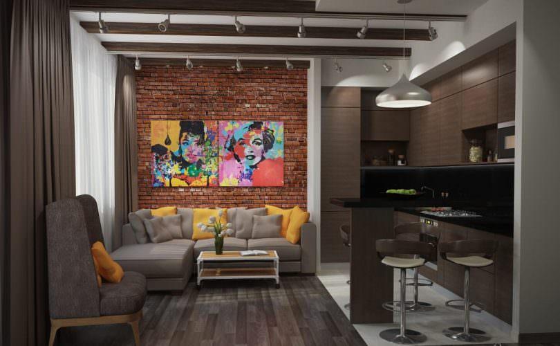 Дизайн кухни-гостиной: 15 оригинальных идей зонирования и оформления с фото