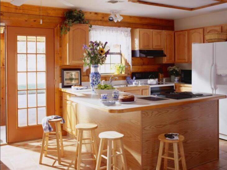 Интерьер кухни в частном доме: как оформить интерьер на даче своими руками