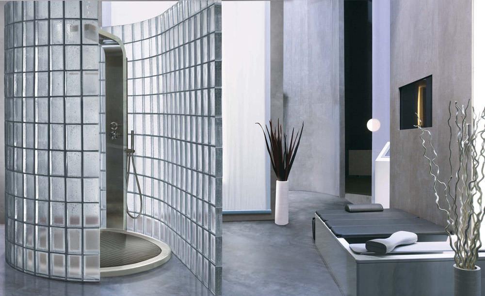 Использование в интерьере и установка стеклоблоков