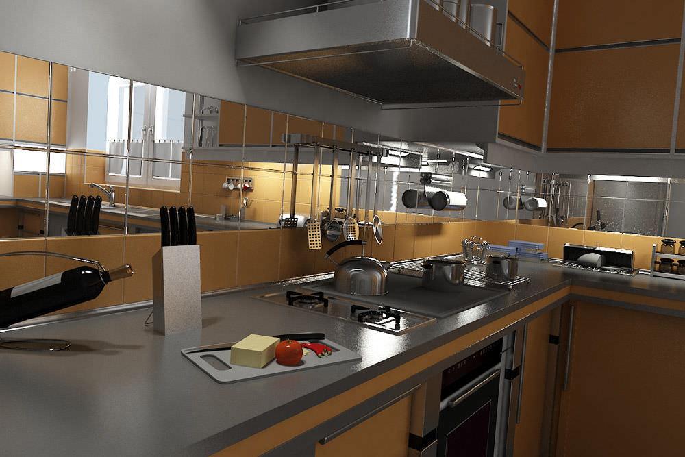 Из каких материалов сделать кухонный фартук