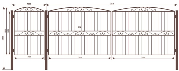 Изготовление и сварка конструкции дачных ворот из профильной трубы
