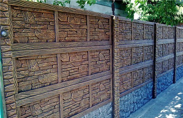 Изготовление и установка декоративного забора из бетона