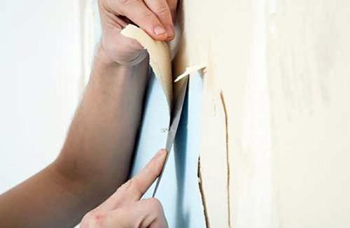 Как быстро снять обои со стен