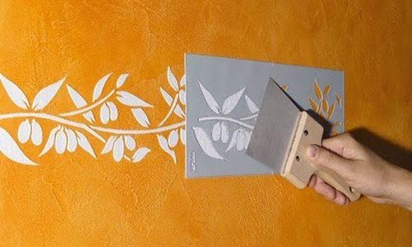 Как декорировать стену с помощью подручных средств и материалов