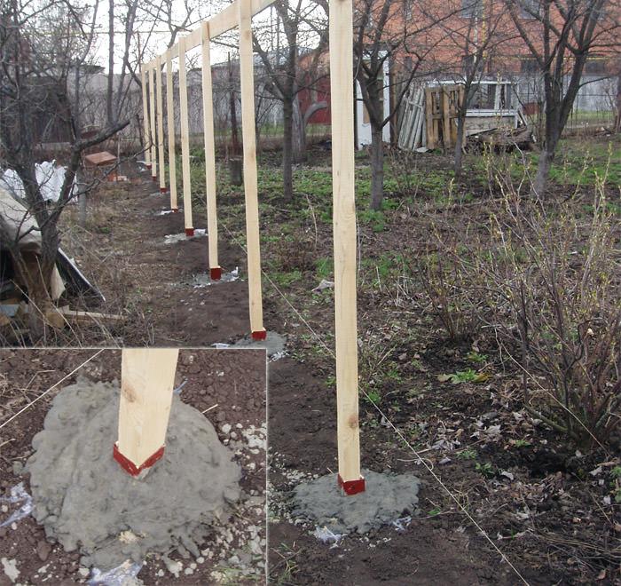 Как грамотно провести установку столбов под забор