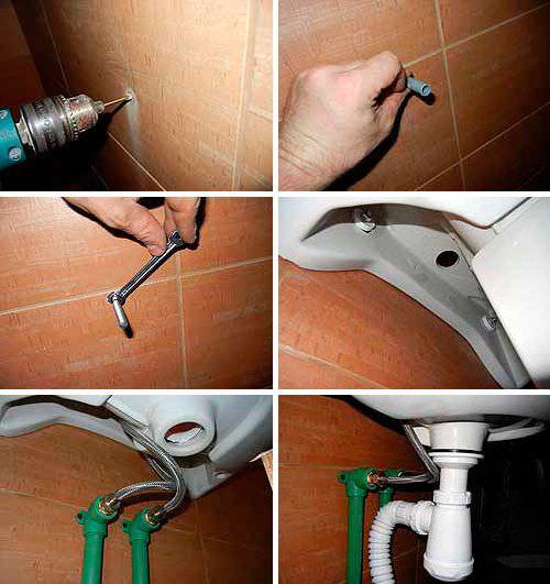 Как крепить раковину к стене