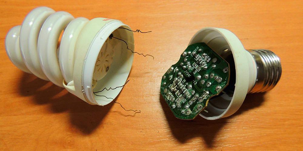 Как отремонтировать энергосберегающию лампу своими руками