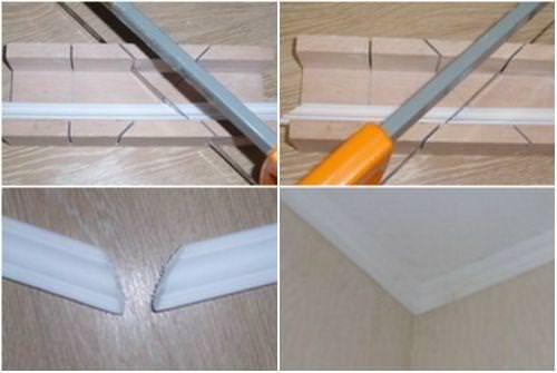 Как правильно клеить потолочный плинтус?