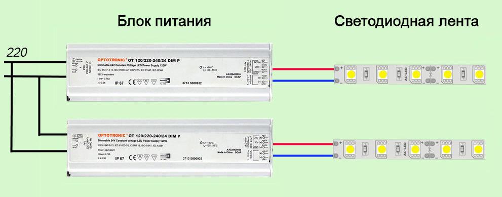 Как самостоятельно подключить светодиодную ленту: инструкции, правила, меры безопасности