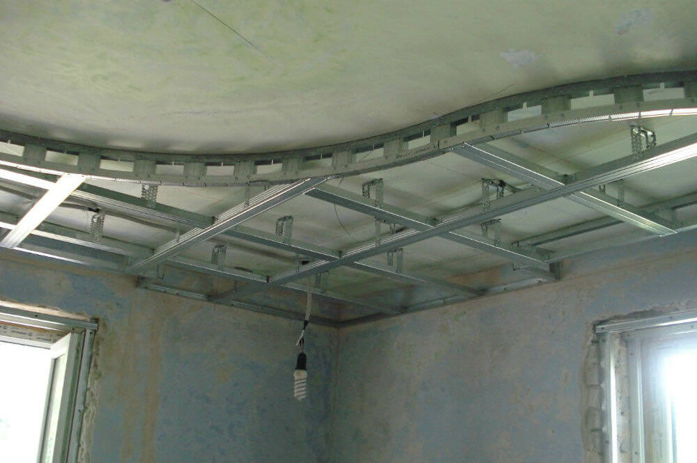 Как самостоятельно установить подвесной потолок