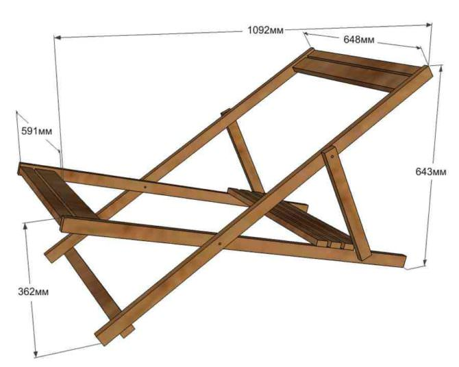 Как сделать дачный шезлонг своими руками из простых материалов