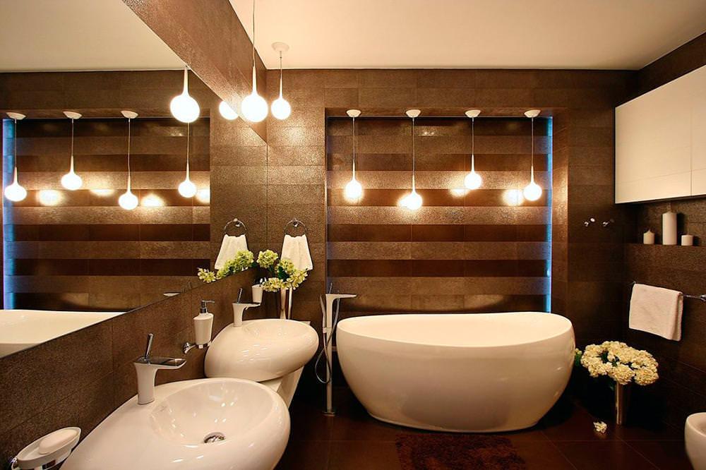 Как сделать освещение ванной комнаты правильным
