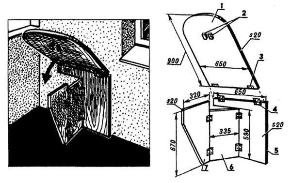 Как сделать откидной столик на балконе из простых материалов