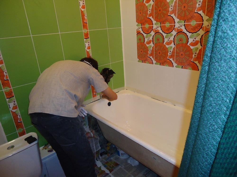 Какой краской можно покрасить ванну из чугуна?