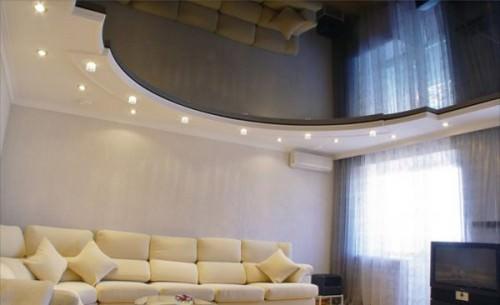 Красивые потолки из гипсокартона: 40 фото идей для гостиной, двухуровневые и многоярусные