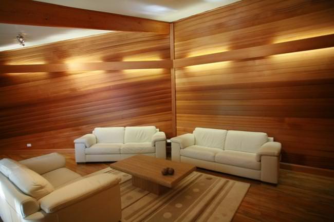 Крепление деревянных панелей на стены