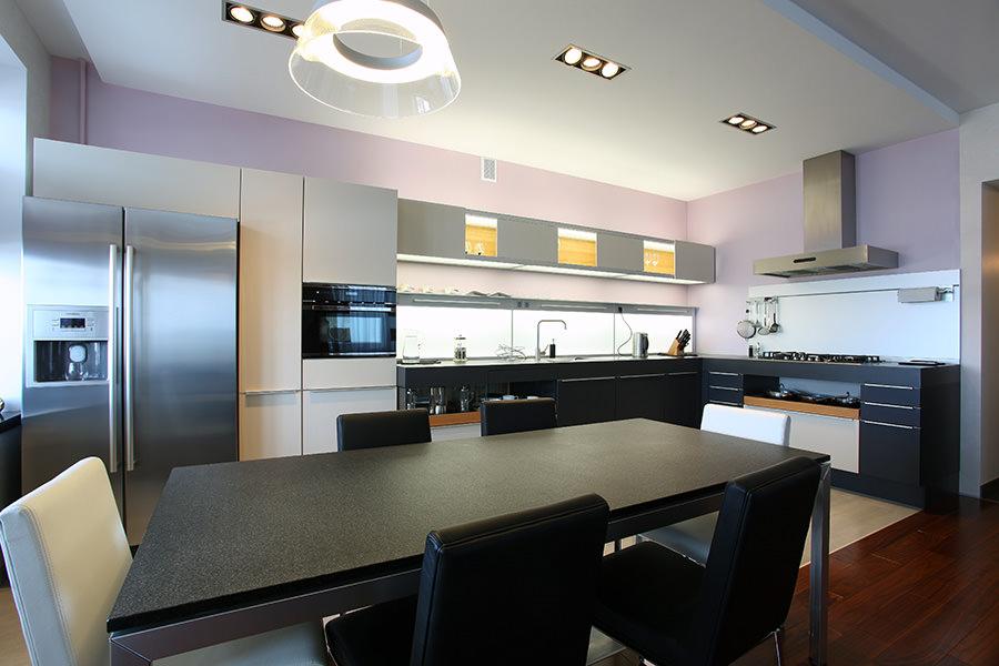 Кухня-гостиная в современном стиле: примеры дизайн-проектов с фото