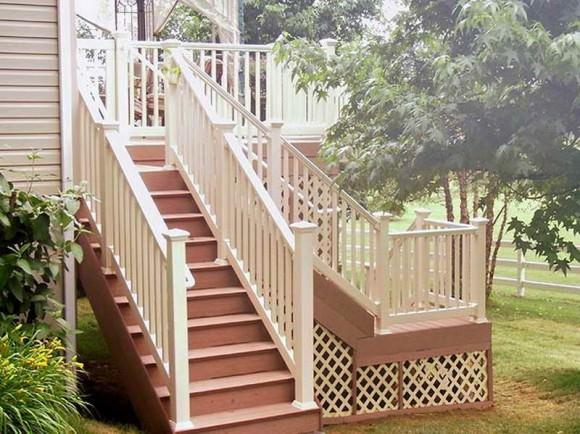Лестницы деревянные на второй этаж на фото
