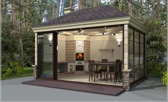 Летняя кухня на даче: проект, фото, материалы
