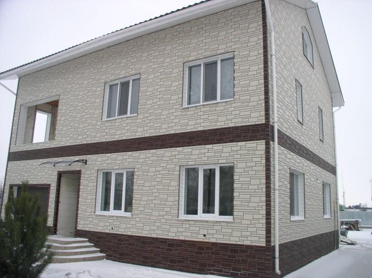 Материал для отделки фасадов частных домов и создания неповторимого образа здания