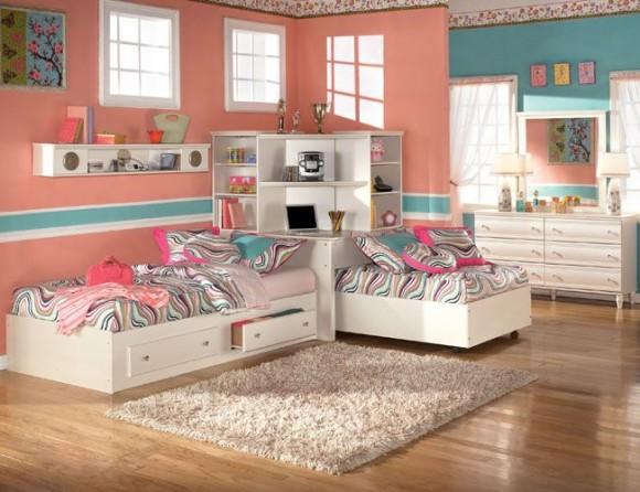 Мебель в детской комнате для девочек. Фото и идеи