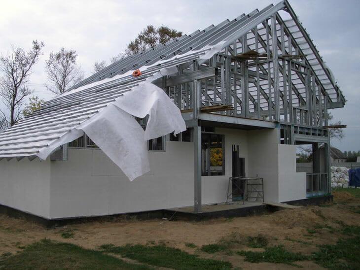 Металлический каркас дома в разных климатических районах
