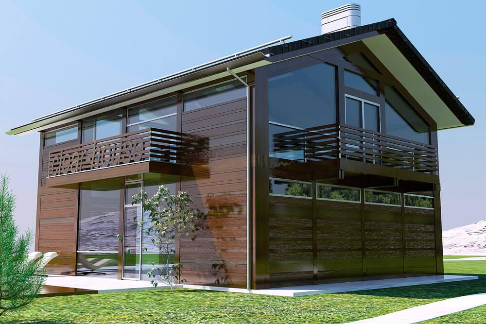 Надежность и натуральность фасада из планкена