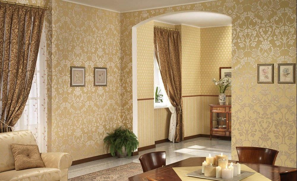 Оформление стен в гостиной