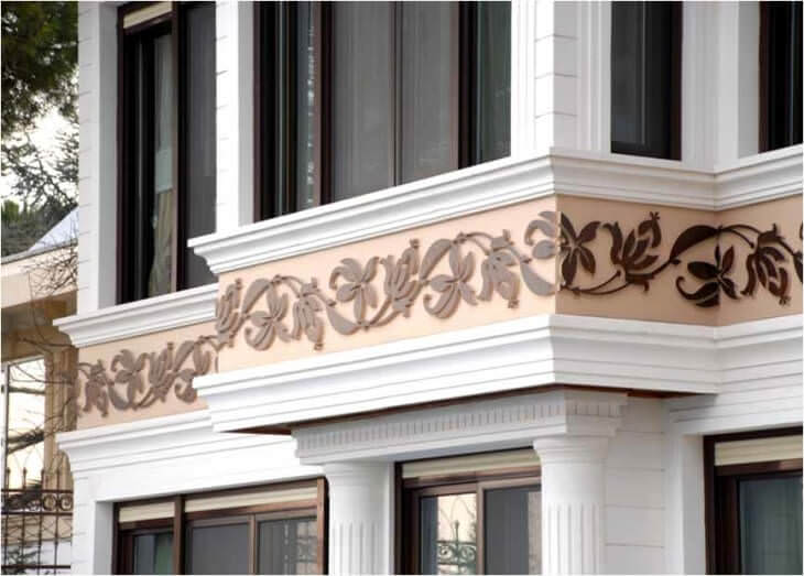Основные архитектурные элементы фасада, названия и способы подчеркнуть их подсветкой