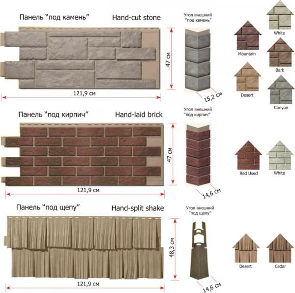 Основные размеры панелей цокольного сайдинга и советы по расчету