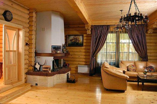 Отделка деревянного дома внутри: фото, возможности, идеи
