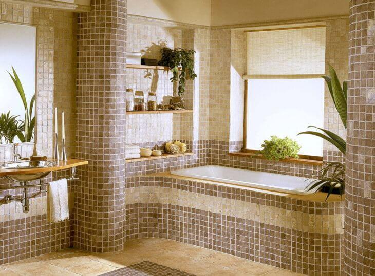 Плитка мозаика для ванной: виды мозаики и технология монтажа