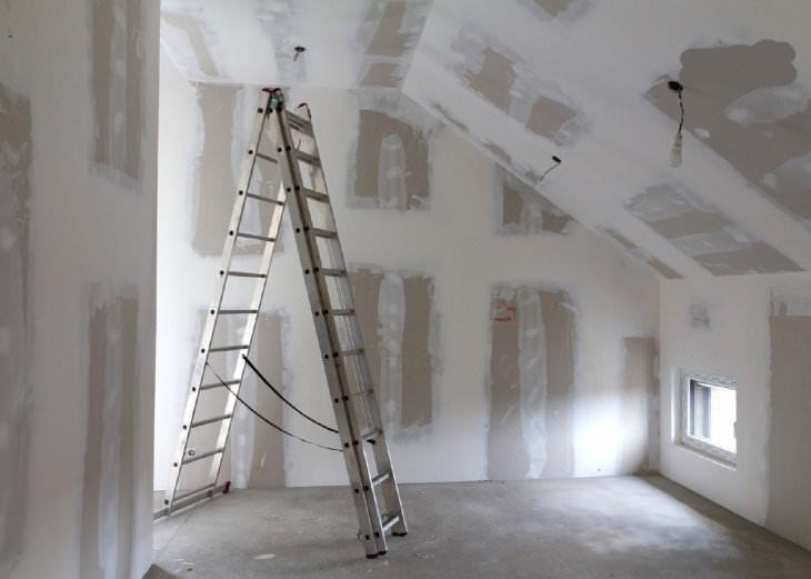 Подготовка и покраска гипсокартона внутри помещения