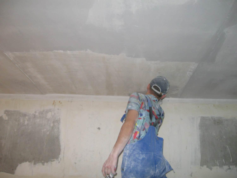 Подготовка, очистка и шпаклевка потолка под покраску